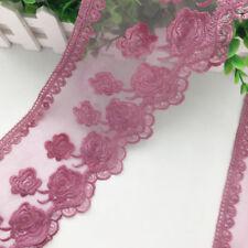 1 Yard Embroidered Net Lace Trim Ribbon Dress Skirt Handicrafts DIY Wide 13cm