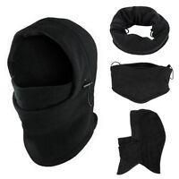 6in1 Thermal Fleece Balaclava Hood Mask Police Swat Ski Bike Winter Hat Cap Mask