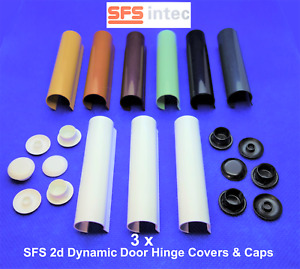 3 x SFS INTEC 2d DYNAMIC Centre Hinge Covers for PVCu Doors, *MULTIBUY DISCOUNT*