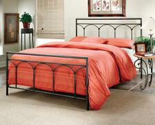 Hillsdale Furniture 1092BKR McKenzie Bed Set - King with Rails Brown Steel NEW