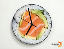 Sushi Time - Japanese Food - Makimono Sashimi - Wall Clock
