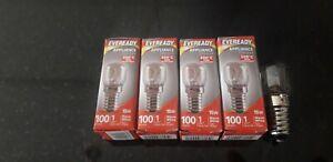 5 X Himalayan Salt Lamp Bulb E14 Screw 15W Appliance Oven Light Pygmy SES