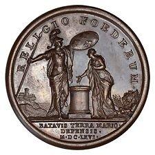 France / Médaille Louis XIV / Défense de la Hollande 1666