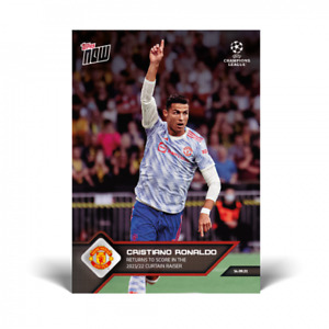 2021 Topps Now UCL UEFA #15 Cristiano Ronaldo Manchester United PRESALE