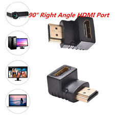 Right Angle Hdmi Cable Adapter Male to Female Connector 90 Degree HDTV 1080P LX