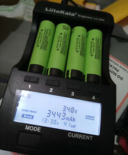 4X Panasonic Ncr18650B 3400mAh Rechargeable18650 Li-ion Battery+1 Led charger