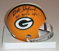 PACKERS Bob Hyland signed mini helmet w/ ICE BOWL 1967 JSA COA AUTO Autographed