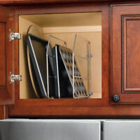 """Rev-A-Shelf TWO Kitchen Cabinet Sink or Base 12"""" or 18"""" Tray Dividers with Clips"""