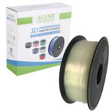 Acenix ® Transparente 3D filamento Pla 1.75mm Carrete de 1KG para impresión 3D & Plumas