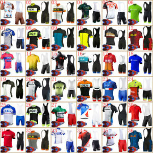 Mens Cycling Jersey Bib Short Set Short Sleeve Cycling Jersey Cycling Bib Shorts