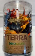 Terra by Battat mini dinosaurs 57 piece set, Lightly Played With