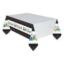 Happy Retirement Tablecloth Plastic Table Cover Work Party Tableware - 571552