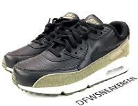 562986405b NIKE AIR MAX 90 HAL SZ 8 PATCH LOGO BLACK OLIVE GREEN SILVER AH9974 ...