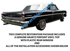 OLDSMOBILE CUTLASS & F-85 CONVERTIBLE TOP DO IT YOURSELF PACKAGE 1962-1963