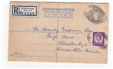 Great Britain 1959 Queen Elizabeth Ii 1s3d Registered Letter Uprated 3d Wilding