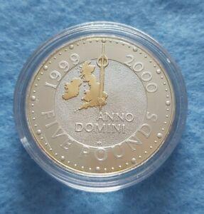 £5 Five Pound Silver Coin 1999-2000 Millenium Anno Domini- uncirculated