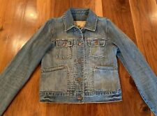 Abercrombie & Fitch Denim Jacket Distressed Women's Size Small