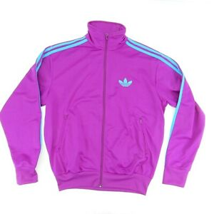 Adidas Track Jacket 3 Stripes Trefoil Sz 50 (XL) Purple Blue Sample Climawarm