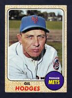 1968 Topps #27 Gil Hodges New York Mets NM near mint condition