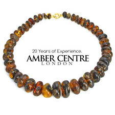 Blue Dominican Amber Natural Beaded Necklace First Grade Amber; A0107 RRP£3950!!
