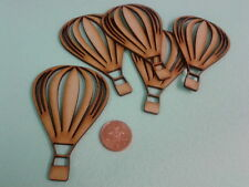 Laser Cut 3mm MDF Wooden Hot Air Balloon Craft Shapes 10cm x 6.8cm Pack of 10