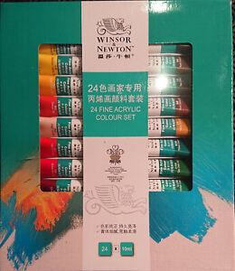 Genuine Winsor & Newton Acrylic Set 24 x 10ml