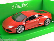 LAMBORGHINI HURACAN LP 610-4 in Red 1/24 scale model by WELLY