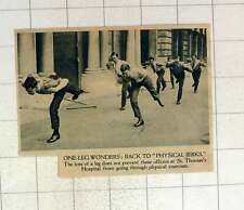 1920 St Thomas's Hospital One Leg Wonders Going Through Physical Exercise