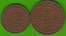 Tunesien Set 5 und 10 Centimes 1914 nswleipzig