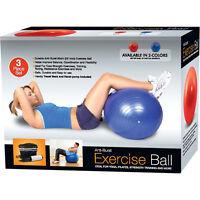 65CM GYM EXERCISE YOGA SWISS BALL FITNESS PREGNANCY BIRTHING ANTI BURST + PUMP
