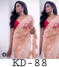 Designer Saree Net Fabric With Blouse Stylish New Indian Party Wear Sari KD-88