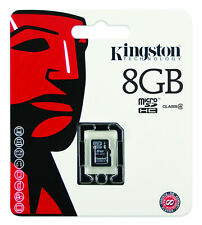 Kingston 8GB Micro Secure Digital High Capacity (SDHC) Micro SD Card - Class 4