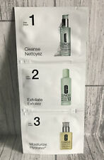 Clinique 3 Step Cleanse Exfoliate Moisturise For Dry Combination Skin Sample Set