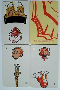 VINTAGE PLAYING CARDS CARD GAME WADDINGTONS GRANDFATHERS WHISKERS EXCELLENT 1935