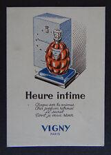 Ancienne carte parfumée HEURE INTIME - VIGNY Paris - Parfum perfume