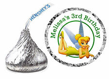 108 TINKERBELL BIRTHDAY PARTY FAVORS HERSHEY KISS LABELS