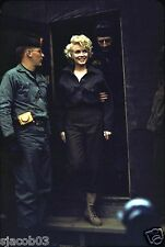 "1954 IMAGE OF MARILYN MONROE IN KOREA - RARE COLOR IMAGE - 8"" by 10 - USO"