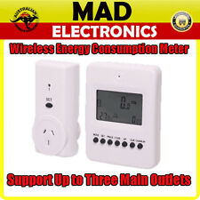 Wireless Mains Power Monitor Energy Consumption Meter Up To Three Mains Outlets
