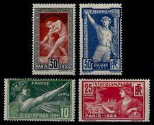 JEUX OLYMPIQUES de 1924, Neufs ** = Cote 158 € / Lot Timbres France 183 à 186