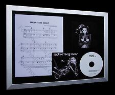 LADY GAGA Marry The Night LTD GALLERY QUALITY CD FRAMED DISPLAY+FAST GLOBAL SHIP