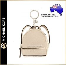 Michael Kors Gray Dove Pebble Leather Mini Rhea Backpack Charm #055
