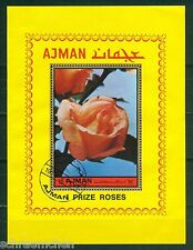 Ajman Block 455 A , o , Motiv Blumen - Rosen