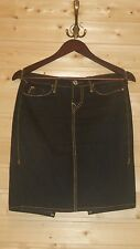 LADIES TRUE RELIGION JEAN SKIRT SIZE 27 DARK BLUE