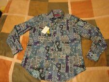 $198 Robert Graham city of water floral long sleeve button up shirt S mens NEW