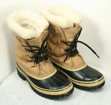 SOREL Caribou Leahter Wool Waterproof Winter Snow Boots. Women's Size 8