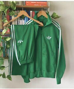 Adidas Originals ADI-Firebird Tracksuit Green White, Jacket Size XL Pants Size L