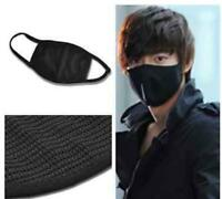 2pcs Face Anti-Dust Mask Black Cotton Mouth Face Masks Cycling Wearing Masks New
