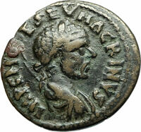 MACRINUS 217AD Parium Parion MYSIA Authentic Ancient Roman Coin GENIUS i76074