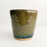 Small Studio Vase Art Pottery Rustic Farmhouse Drippy Glaze Modern Industrial