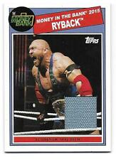 RYBACK 2015 Topps WWE Heritage Money in the Bank Mat Relic Card